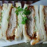 カフェ&レストラン 絵里珈 - 料理写真:カツサンドセットのカツサンド