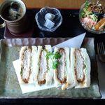 カフェ&レストラン 絵里珈 - カツサンドセット