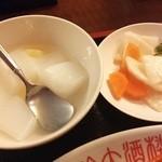 慶珍楼 - デザート・漬物