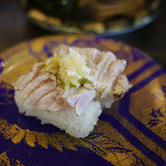 江戸前回転寿司えびす - まぐろ炙りごま油ねぎ塩~☆