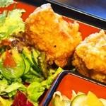 中国料理 青冥 - スペシャル定食(唐揚げ、サラダ)