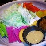 38221021 - 生野菜をディツプと味噌で