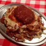 スパゲッティーのパンチョ - カレーナポ+ハンバーグ、焼きチーズ