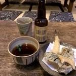 38222860 - 地ビールと天ざる(てんぷらのみ)