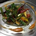 izakaya 新道亭 - 生野菜のサフランソース