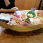 味の食彩館 - 特別刺身定食(ランチ)¥1000