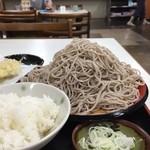 味奈登庵 - 日替りサービスセット(キスつけ天そば ライス付き)¥500 そば大盛り¥100