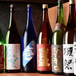 全国各地の日本酒が季節ごとに入れ替わり!