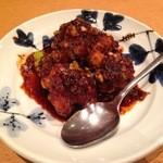希須林 小澤 - 牛ホルモン辛味噌(900円)