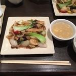 ロン ファン - ホタテと季節野菜の豆鼓醤炒め