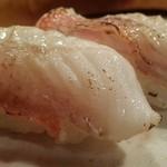 鮨処 竜敏 - キンキの炙り塩