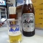 可楽 - ビール、コップに1/3だけもらう〜♪