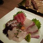 魚豊 - 刺身3種盛り