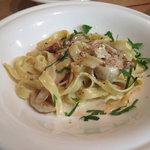 イタリア食堂ディエーチ - ポルチーニ茸の生フィットチーネ 1350円 (2009_9_29 撮影)