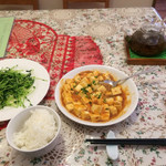 桃李 - 麻婆豆腐&豆苗炒め