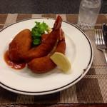 洋食の店 みしな - カニクリームコロッケとエビフライの盛合わせ お茶漬け付