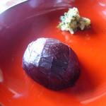 前山寺 - 梅の紫蘇巻,野沢菜