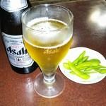 38247146 - 朝7時半、瓶ビール注文