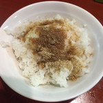 歌舞伎町麺'S倶楽部 KING - Eセット(半熟玉子めし + 餃子 + ラーメン) ¥700 の半熟玉子めし