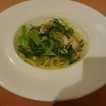 38253551 - アジと葉野菜のアーリオオーリオ