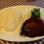キッチン ミキ - チーズハンバーグ500円
