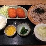 そば匠十兵衛 - ¥745の日替り定食がお得だ。
