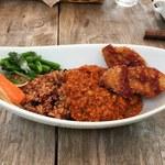 cafe たべりーね - 季節の野菜カレー ご飯は同じく醗酵玄米ですよ