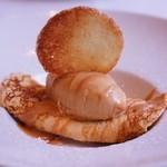 アンジュ・ダズール - バニラとチョコクレープとキャラメルアイス。何もかも美味しい♪