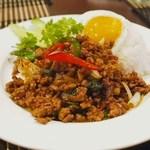 タイ・アヨタヤ・レストラン - ガッパオガイカイダオ