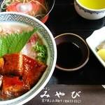 みやび - みやびのキンメ丼♪ キンメ丼は、他の店も一律1600円で、店ごとのオリジナル丼。