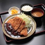 御在所サービスエリア(下り線)とんとん食堂 - 名古屋名物 味噌かつ定食