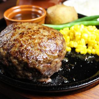 こだわりの米沢牛手ごねハンバーグ