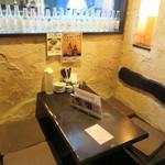 ビストロ喰米屋 - 店内は至って、イマドキの居酒屋です。 今回座ったテーブル席。
