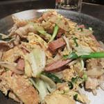 ビストロ喰米屋 - 最後にフーチャンプルで〆ました。 イマドキの沖縄料理居酒屋ですが、どれを頼んでもきちんと美味しく、気持ち良く過ごせました。