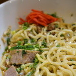 中村商店 - 2015.05 汁なし坦々麺(+温泉玉子)(890円)
