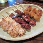 杉本 - 料理写真:焼き鳥3種