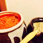 博多ラーメン 田中 - 紅ショウガ,ゴマゎ好きなだけ