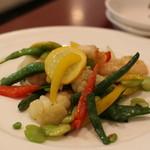 香 - 海老と空豆の海老炒め
