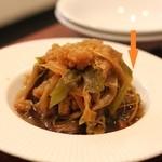 香 - 四川前菜 サボテン@と乾燥カリフラワーと生姜の和え物
