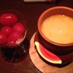 38278922 - トマトのチーズフォンデュ