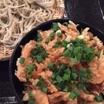 蕎麦の三心 - 桜えびのかき揚げ丼と蕎麦