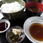 てんぷら酒場 純 - 天麩羅定食のご飯に味噌汁、天つゆ