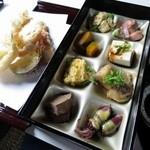 てんぷら酒場 純 - 天麩羅定食の天ぷらのおかず