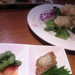 Haruka - 前菜3種盛とエビマヨ♪