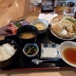 天晴 - 天ぷら刺身定食