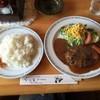 ロッジ - 料理写真:「ハンバーグセット」800円。