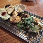 山河料理 掘割 - 野菜天ぷら盛り合わせ♡(ؔᵒ̶̷ᵕؔᵒ̷̶)