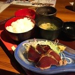 麹蔵 - 鰹のたたき定食