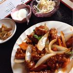 中華料理 順和園 - ザーサイ、杏仁豆腐、サラダとスープ付き