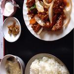 中華料理 順和園 - 酢豚定食(黒酢)